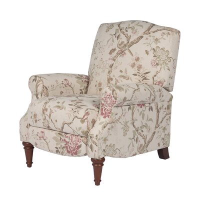 Bayrick Manual Recliner Upholstery: Beige/Green /Pink