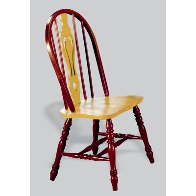 Sunset Selections Keyhole Back Side Chair Finish: Nutmeg / Rich Honey Light Oak