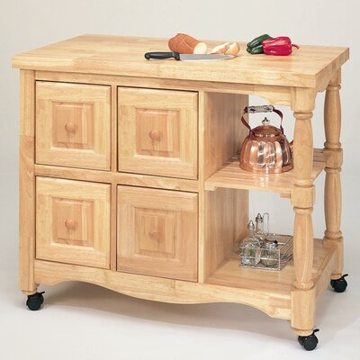 Sunset Selections Kitchen Island with Butcher Block Finish: Rich Honey Light Oak