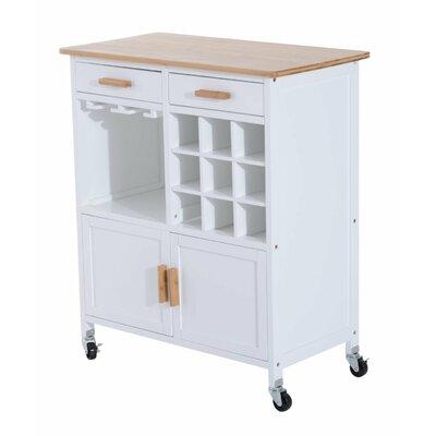 Küchenwagen | Küche und Esszimmer > Servierwagen | Kiefernholz | Homcom