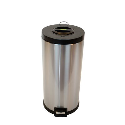 Stainless Steel 7.9 Gallon Step On Trash Can SSTC30COM