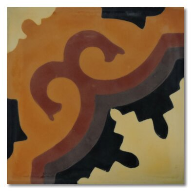 Tanger 8 x 8 Handmade Cement Tile in Multi-color