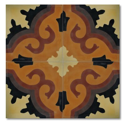 """Argana 8"""" x 8"""" Cement Marble Floor and Wall Tile"""