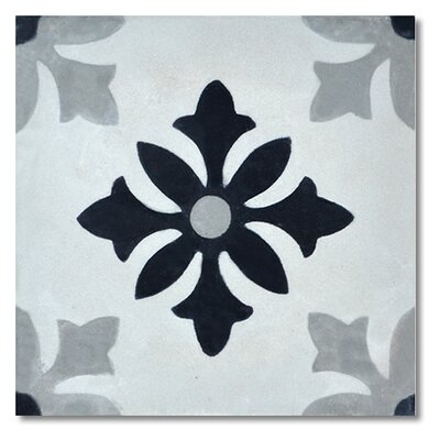 "Azrou 8"" x 8"" Cement Marble Floor and Wall Tile"