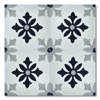 """Azrou 8"""" x 8"""" Cement Marble Floor and Wall Tile"""