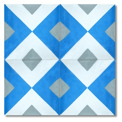 """Jadida 8"""" x 8"""" Cement Marble Floor and Wall Tile"""