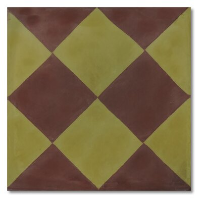 Rabat 8 x 8 Handmade Cement Tile in Brown and Green