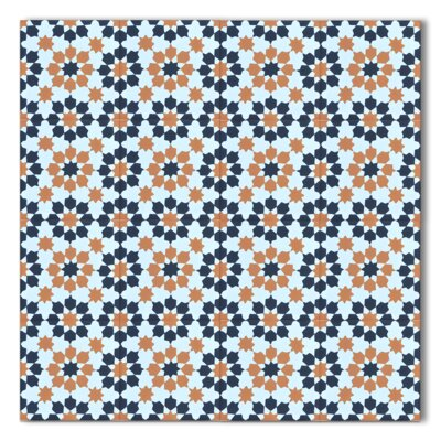 Ahfir 8 x 8 Handmade Cement Tile in Multicolor