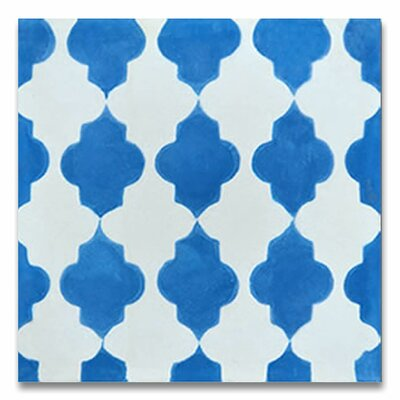 Tafraout 8 x 8 Handmade Cement Tile in Blue/White