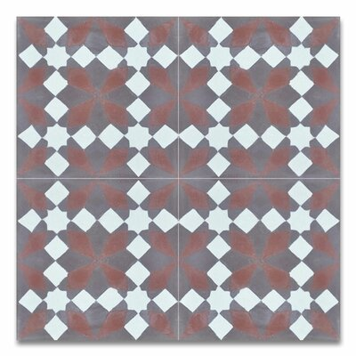 Joana 8 x 8 Handmade Cement Tile in Multicolor