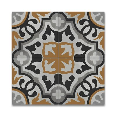 Baha 8 x 8 Handmade Cement Tile in Multi-Color