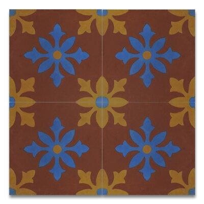 Azrou 8 x 8 Handmade Cement Tile in Multi-Color