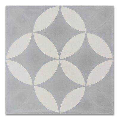 Amlo 8 x 8 Handmade Cement Tile  in Gray/White