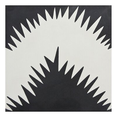 Bettana 8 x 8 Handmade Cement Tile in Black/White