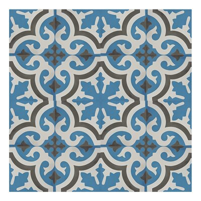 Tanger 8 x 8 Cement Tile in 2 Color Blend