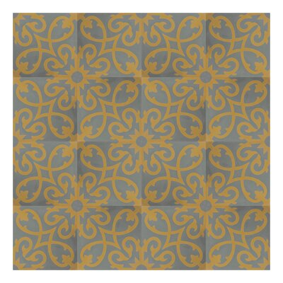 Agadir 8 x 8 Handmade Cement Tile in Yellow/Gray