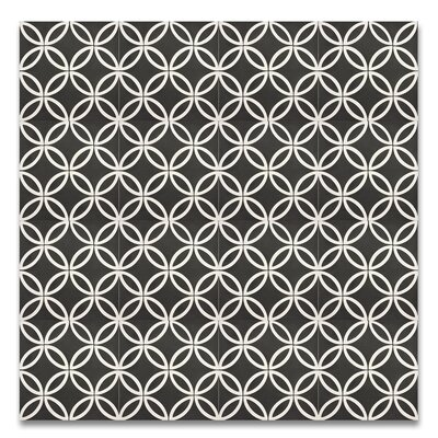 Amlo 8 x 8 Handmade Cement Tile in Black/White