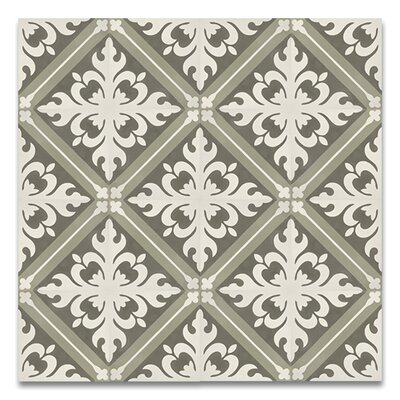 Kasba 8 x 8 Handmade Cement Tile in Green/White