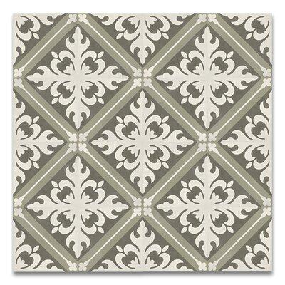 Kasba Handmade 8 x 8 Cement Subway Tile in Green/White