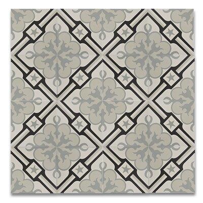 Chala Handmade 8 x 8 Cement Subway Tile in Black/Gray