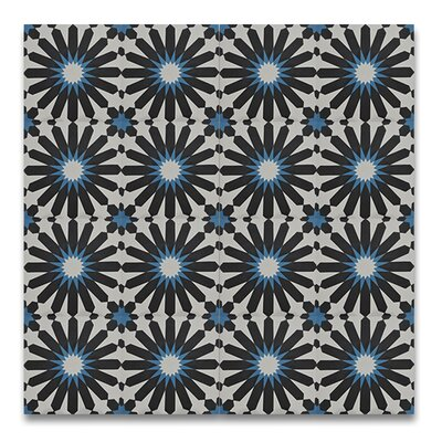 Alhambra 8 x 8 Handmade Cement Tile in 3 Color Blend