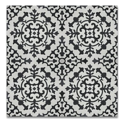 Arfoud 8 x 8 Cement Tile in Black/White