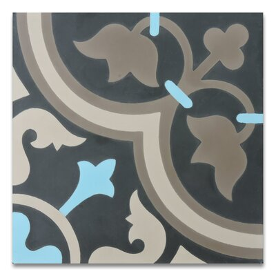 Casa 8 x 8 Cement Tile in Blue/Brown