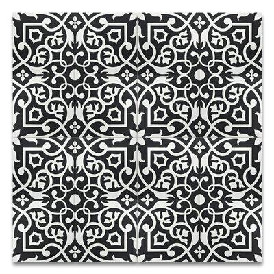 Dokala 8 x 8 Cement Tile in Black/White