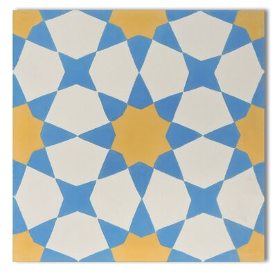 Medina 8 x 8 Cement Tile in Yellow/Blue