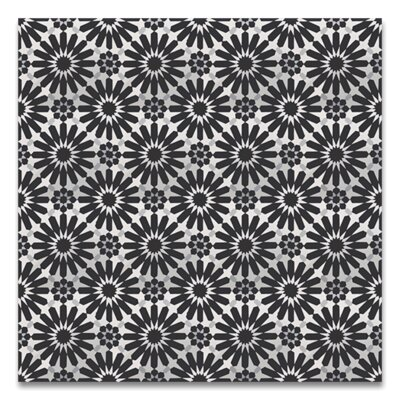 Alhambra 8 x 8 Handmade Cement Tile in Black/White