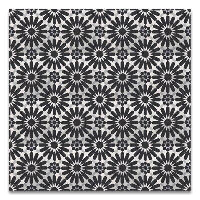 Alhambra 8 x 8 Handmade Cement Tile in Black/White