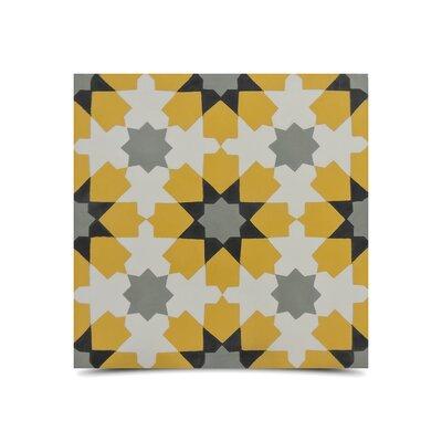 Ahfir 8 x 8 Handmade Cement Tile in Multi-Color