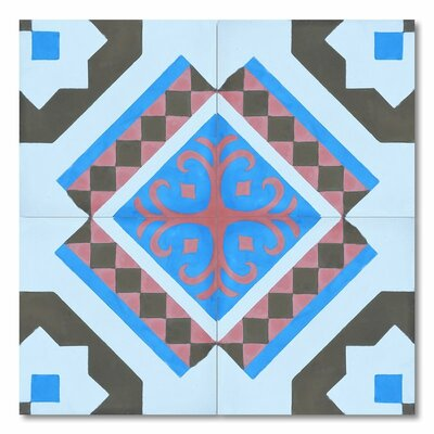 Bouman 8 x 8 Handmade Cement Tile in Multi-Color