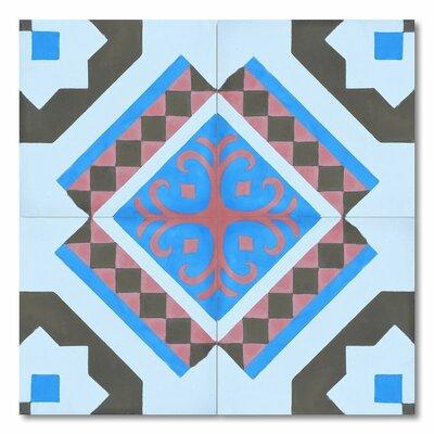 Bouman 8 x 8 Handmade Cement Tile in Multi-Color
