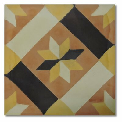 Kotoubia 8 x 8 Handmade Cement Tile in Multi-Color