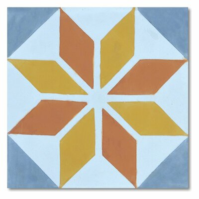 Assila 8 x 8 Handmade Cement Tile in Multi-Color