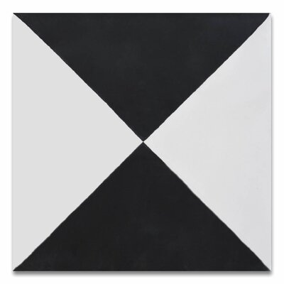 Anfa Handmade 8 x 8 Cement Field Tile in Black/White