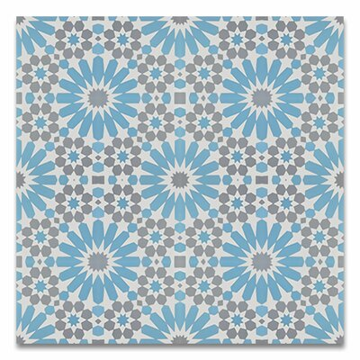 Agdal 8 x 8 Cement Field Tile in Blue/Gray