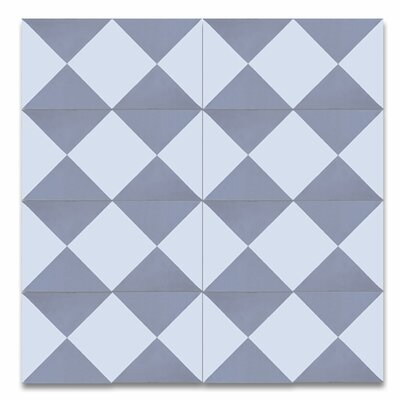 Jadida 8 x 8 Cement Patterned Tile in White/Gray
