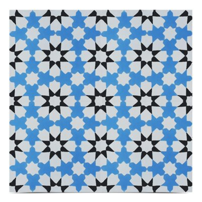 Ahfir Handmade 8x 8 Cement Field Tile in Blue/White