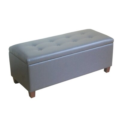 Upholstered Storage Bench Upholstery: Charcoal Gray K6861-E844