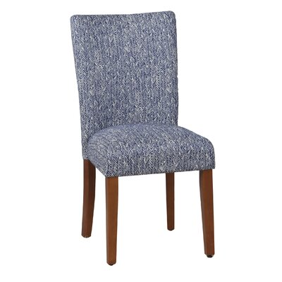 Ennis Upholstered Parsons Chair in Blue