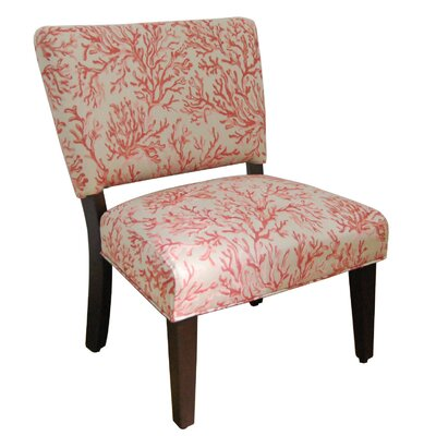 Accent Slipper Chair in Salmon