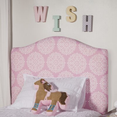 Pink Twin Upholstered Panel Headboard