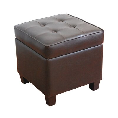 Storage Cube Ottoman Color: Brown