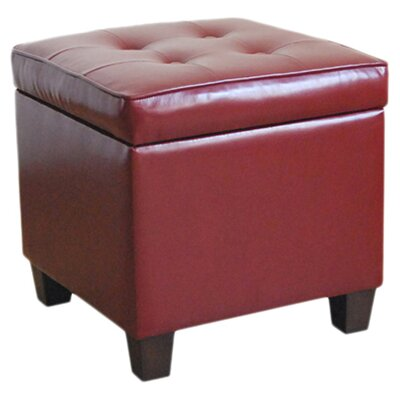 HomePop Storage Ottoman Color: Dark Red