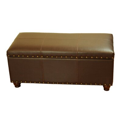 Leather Storage Bedroom Bench