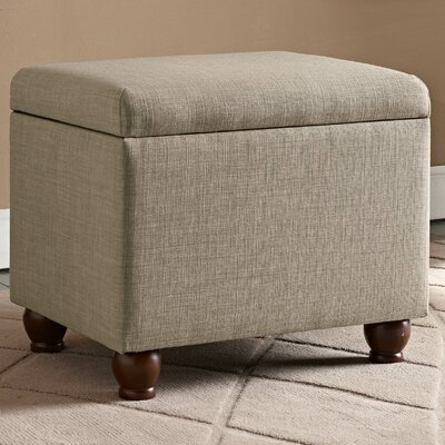 Birmingham Upholstered Storage Cube Ottoman Upholstery: Tan