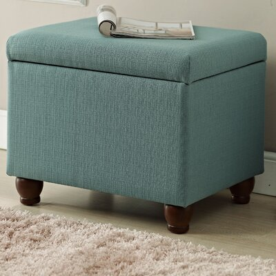 Upholstered Storage Cube Ottoman Upholstery: Aqua