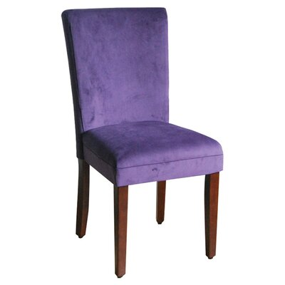 Side Chair Upholstery: Rich Plum Aubergine